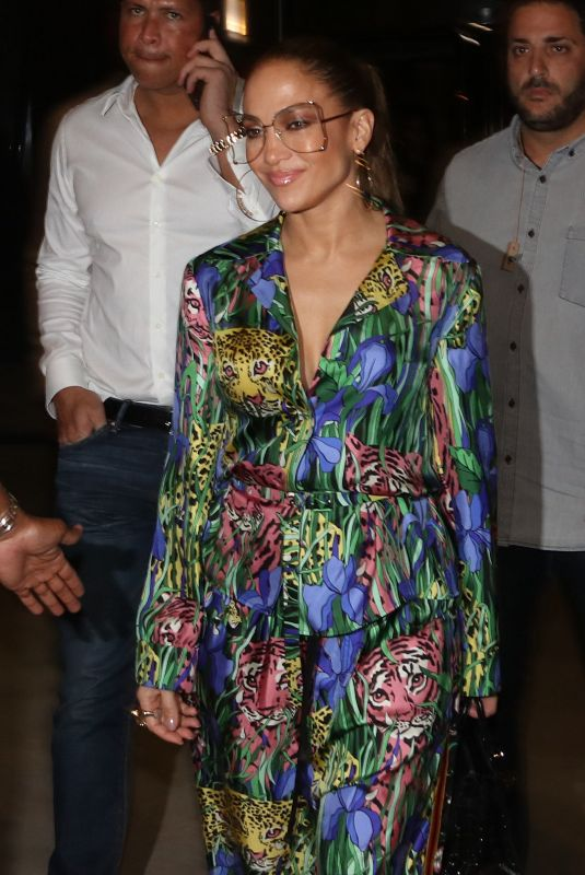 JENNIFER LOPEZ Night Out in Tel Aviv 07/31/2019