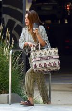 JESSICA ALBA Arrives at Her Office in Los Angeles 08/26/2019