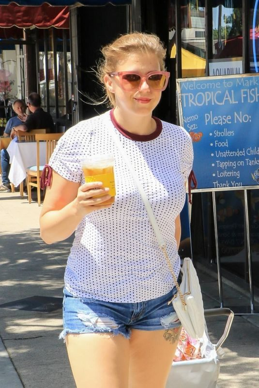 JODIE SWEETIN at Farmer's Market in Studio City 08/18/2019