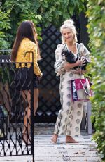 JULIANNE HOUGH Out with her Dog in Los Angeles 08/22/2019