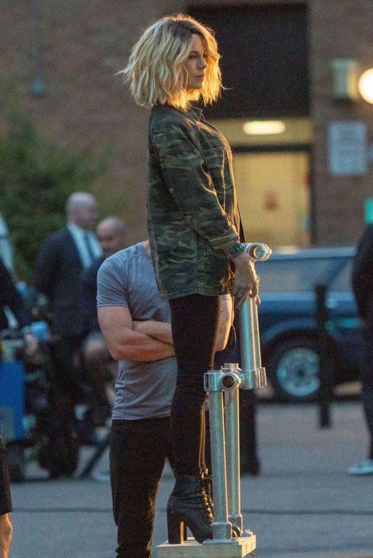KATE BECKINSALE on the Set of Jolt in London 08/09/2019