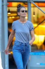 KATIE HOLMES in Denim Out in New York 08/19/2019