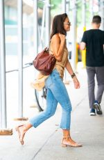 KATIE HOLMES Out and About in New York 08/17/2019