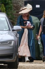 KEELEY HAWES on the Set of Rebecca and the Stars in Guildford 08/08/2019