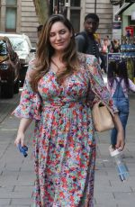 KELLY BROON Arrives at Her Drivetime Show in London 08/20/2019