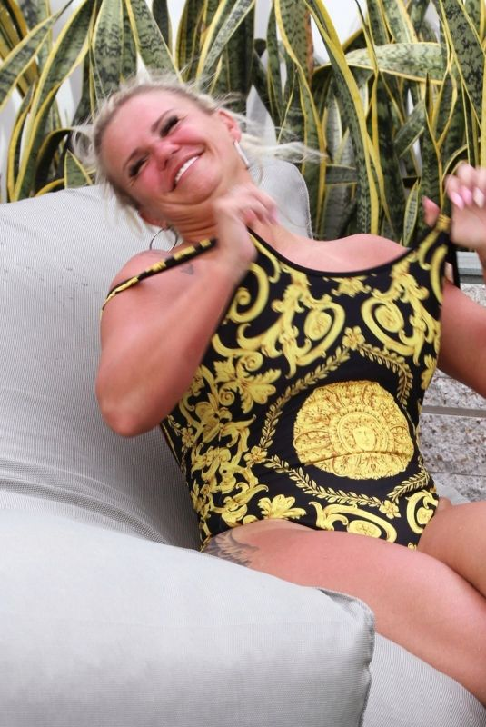 KERRY KATONA in Swimsuit at a Pool in Thailand 08/25/2019