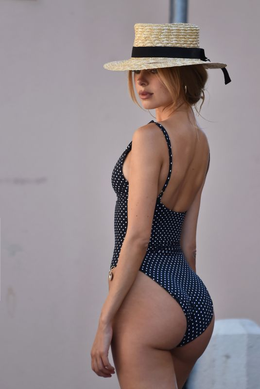 KIMBRLEY GARNER in Swimsuit Out in St. Tropez 07/29/2019