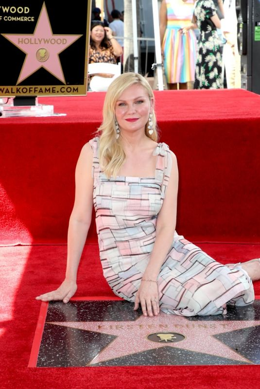 KIRSTEN DUNST Honored with Star on Hollywood Walk of Fame 08/29/2019