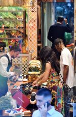 KYLIE JENNER and Travis Scott Out Shopping in Capri 08/08/2019