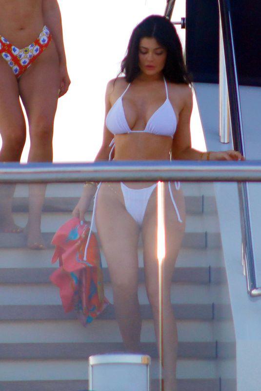 KYLIE JENNER in Bikini at a Yacht in Capri 08/09/2019