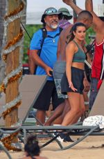 LEA MICHELE in Bikini on the Set Same Time, Next Christmas at a Beach in Hawaii 08/16/2019