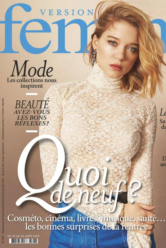 LEA SEYDOUX in Femina Magazine, August 2019
