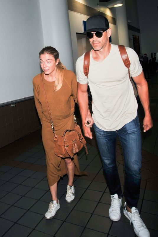 LEANN RIMES at Los Angeles International Airport 08/18/2019