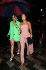 LEIGH-ANNE and Her Sister SAIRAH PINNOCK Night Out in London 08/16/2019