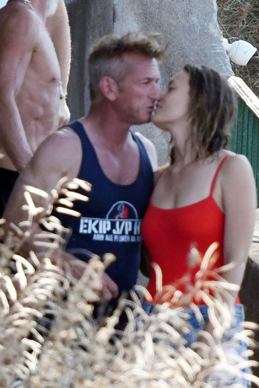 LEILA GEORGE and Sean Penn on Holiday in Positano 08/06/2019