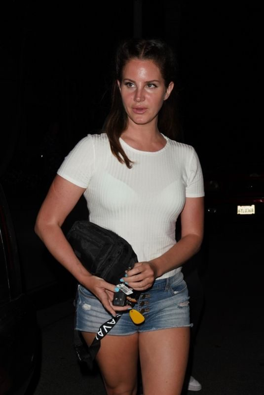 LENA DEL REY Leaves a Church in Beverly Hills 08/06/2019