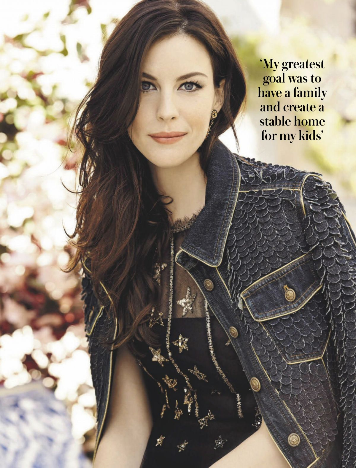 LIV TYLER in Woman and Home Magazine, South Africa ...
