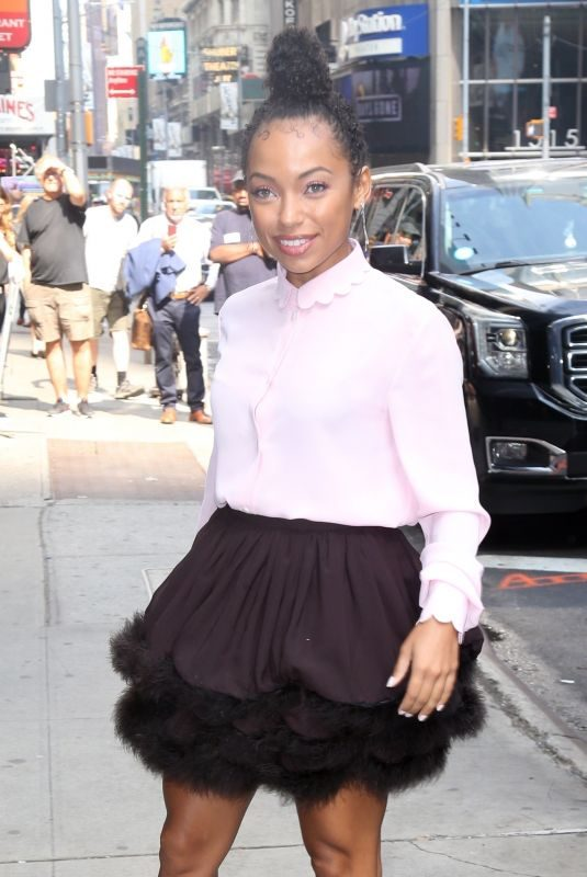 LOGAN BROWNING Arrives at Good Morning America in New York 07/31/2019