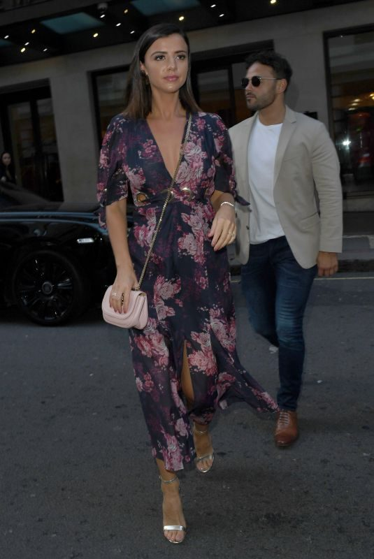 LUCY MECKLENBURGH Leaves There London Hotel 08/08/2019