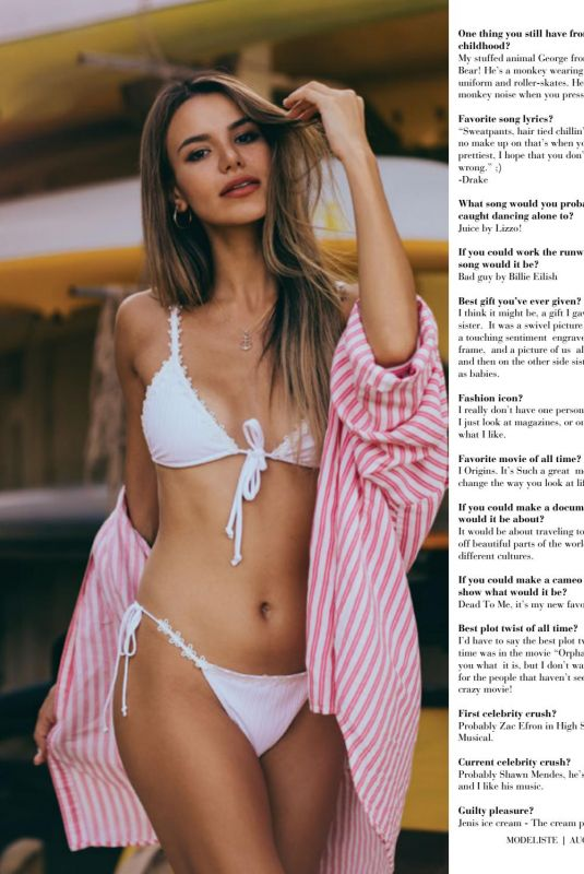 MADISON REED in Modeliste Magazine, August 2019