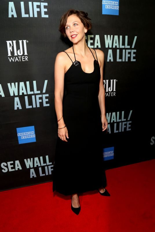 MAGGIE GYLLENHAAL at Fiji Water at Sea Wall / A Life Opening Night on Broadway in New York 08/08/2019