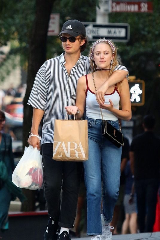 MAIKA MONROE and Joe Keery Out Shopping in New York 08/17/2019