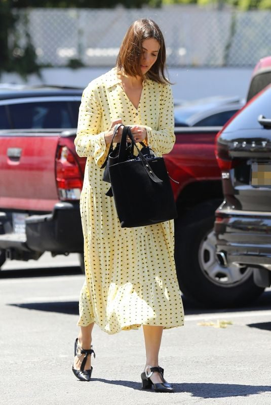 MANDY MOORE Arrives at Quixote Studios in West Hollywood 08/02/2019