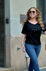 MARIAH CAREY Out and About in New York 08/17/2019