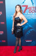 MARILYN FLORES at 47 Meters Down: Uncaged Premiere in Los Angeles 08/13/2019