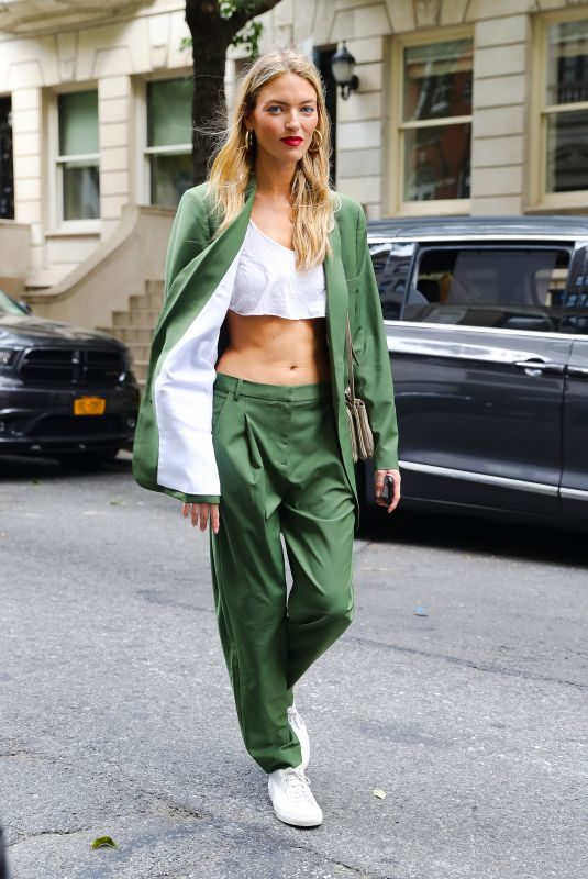 MARTHA HUNT Out in New York 08/21/2019