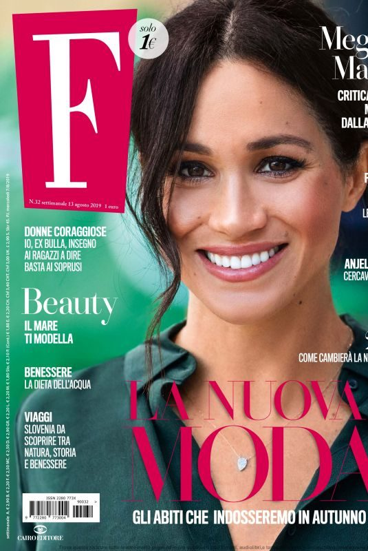 MEGHAN MARKLE in F Magazine, August 2019