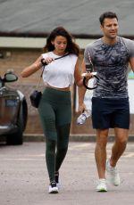 MICEHELLE KEEGAN Leaves a Gym in Essex 08/16/2019