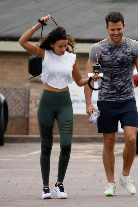 MICEHELLE KEEGAN Leaves a Gym in Essex 08/16/2019