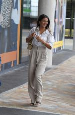MICHELLE KEEGAN Arrives at Breakfast Studios in Manchester 08/20/2019