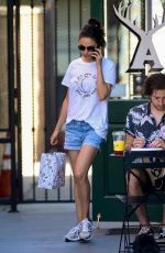 MILA KUNINS in Denim SHorts Out in Studio City 08/26/2019