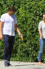 MILA KUNIS and Ashton Kutcher Out and About in Los Angeles 08/15/2019