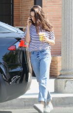 MILA KUNIS Leaves Alfred Coffee in Studio City 08/19/2019