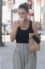 MILA KUNIS Out for Coffee in Beverly Hills 08/30/2019