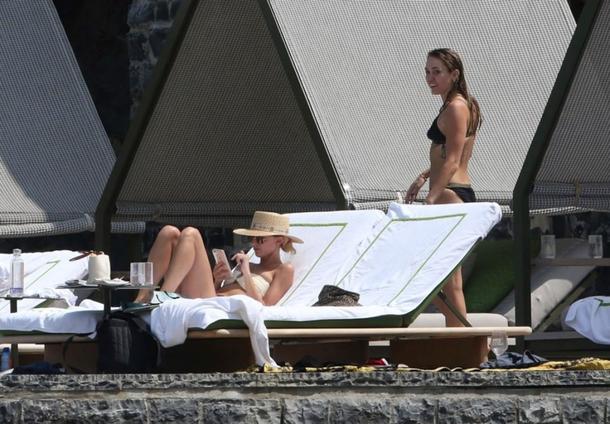 MILEY CYRUS and KAITLYNN CARTER in Bikinis on Vacation in ...