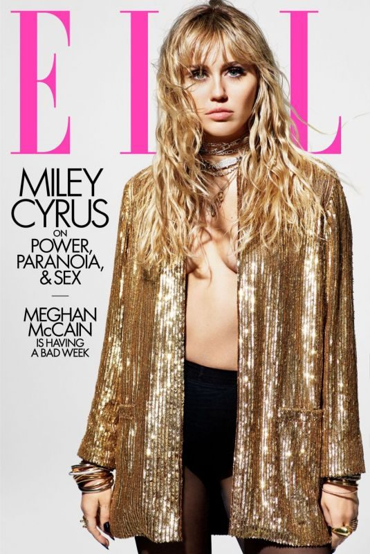 MILEY CYRUS in Elle Magazine, August 2019