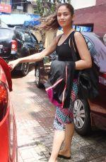 MIRA RAJOUT Leaves a Gym Mumbai 08/19/2019