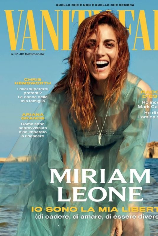 MIRIAM LEONE on the Cover of Vanity Fair Magazine, Italy August 2019