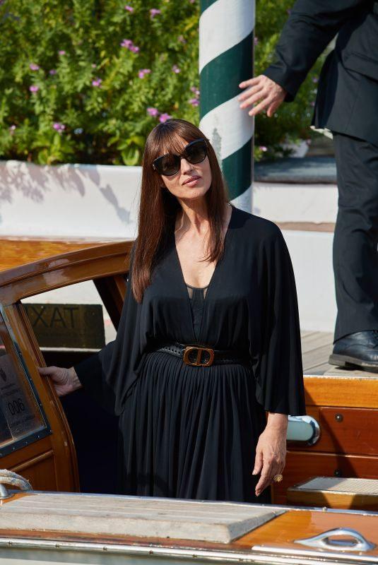 MONICA BELLUCCU Arrives at Lido in Venice 08/29/2019