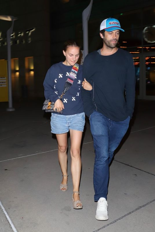 NATALIE PORTMAN and Benjamin Millepied at Arclight in Hollywood 07/30/2019