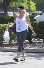 NICOLLETTE SHERIDAN Out with Her Dog in Calabasas 08/08/2019