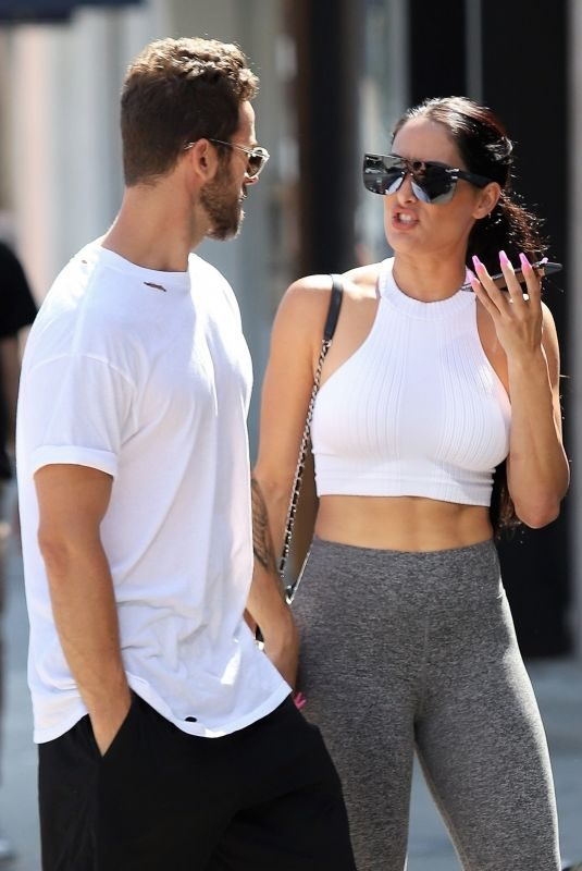 NIKKI BELLA and Aartem Chigvintsev Out for Lunch in Studio City 08/17/2019