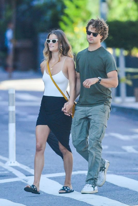 NINA AGDAL and Jack Brinkley Out for Lunch in New York 08/29/2019