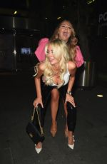 OLIVIA ATTWOOD and CHARLOTTE DAWSON Night Out in Manchester 08/03/2019