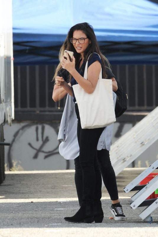 OLIVIA MUNN on the Set of Her New Movie Violet in Los Angeles 08/18/2019