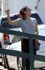 OLIVIA MUNN on the Set of Violet in Los Angeles 08/22/2019